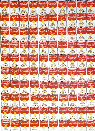 famous painting 100  Latas  of Andy Warhol