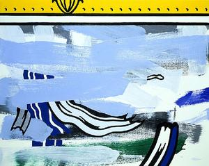 Roy Lichtenstein - Bstraction enestado marco