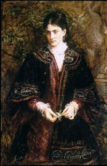 famous painting Ay ! que un sueño tan dulce , hasta la vista enjoy'd . . . of John Everett Millais