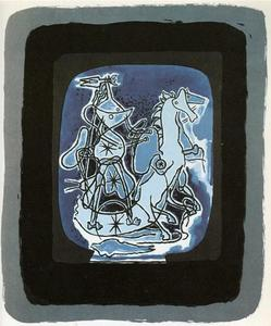 Georges Braque - Helios V , Blue-Violet