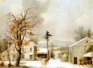 George Henry Durrie - Jones Inn, Invierno