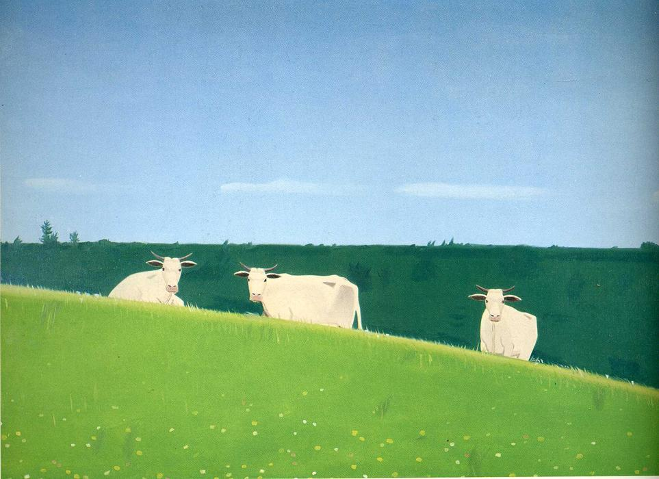 famous painting tres vacas of Alex Katz