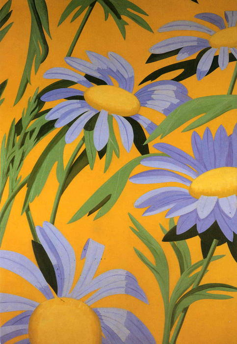 famous painting violeta margaritas of Alex Katz