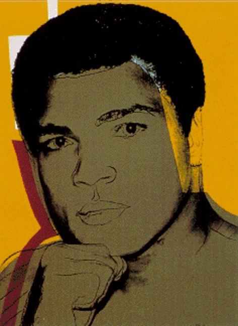 famous painting Mahoma Ali of Andy Warhol