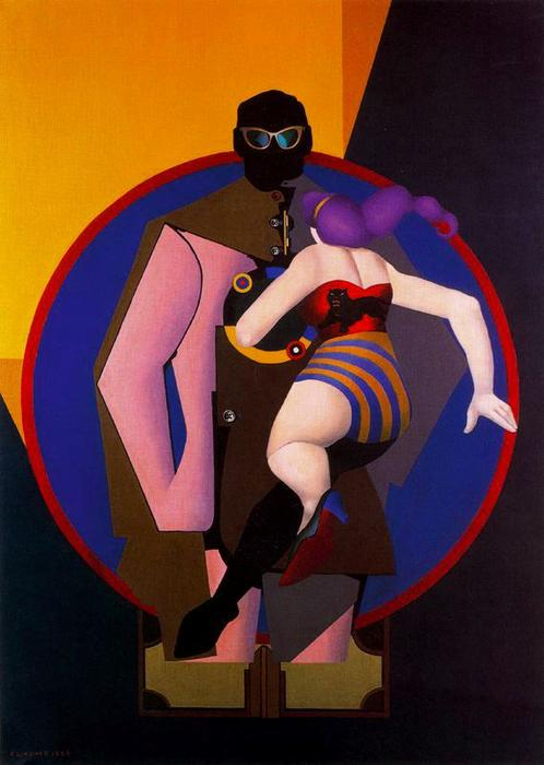famous painting Coney Island II of Richard Lindner