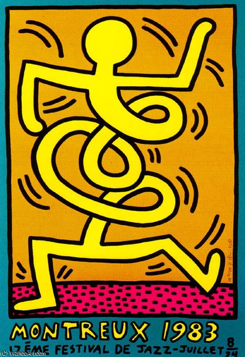 famous painting Sin título 163   of Keith Haring