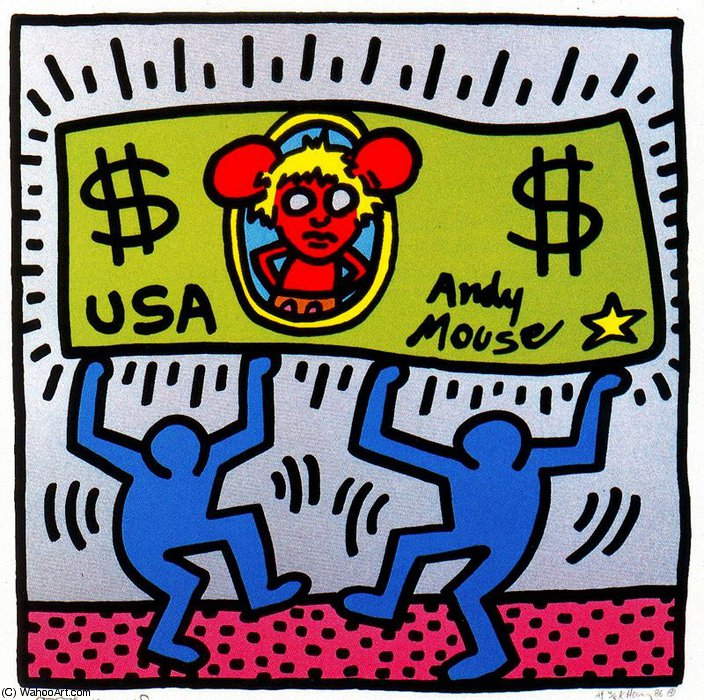 famous painting Sin título 102   of Keith Haring
