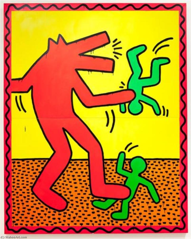 famous painting Sin título 3   of Keith Haring