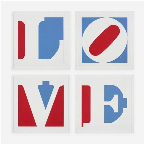 famous painting cuatro el panel  amor  of Robert Indiana
